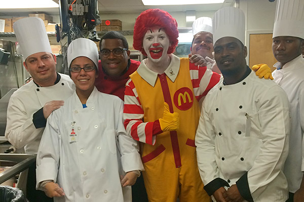 Chef Rey and Team with Ronald